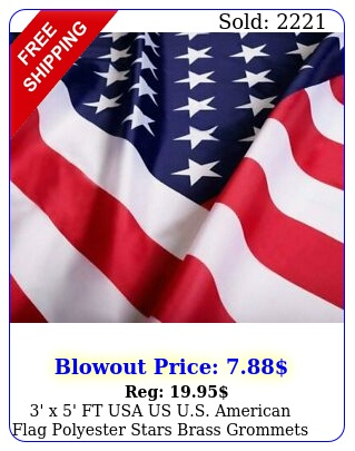 ' x ' ft usa us us american flag polyester stars brass grommet