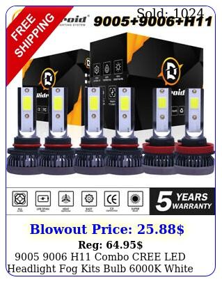 h combo cree led headlight fog kits bulb k white high low bea