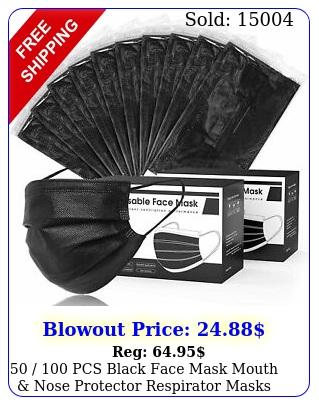 pcs black face mask mouth nose protector respirator masks usa selle