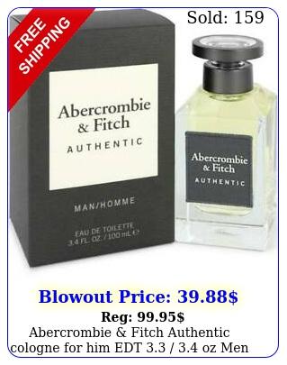 abercrombie fitch authentic cologne edt  oz men i