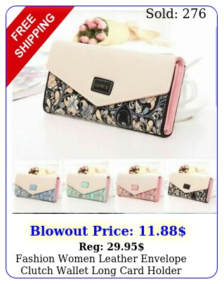 fashion women leather envelope clutch wallet long card holder purse bag handba