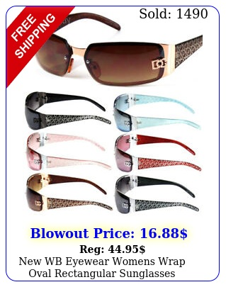 wb eyewear womens wrap oval rectangular sunglasses designer shades fashio