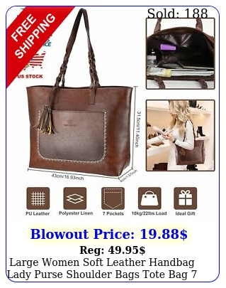 large women soft leather handbag lady purse shoulder bags tote bag cells l