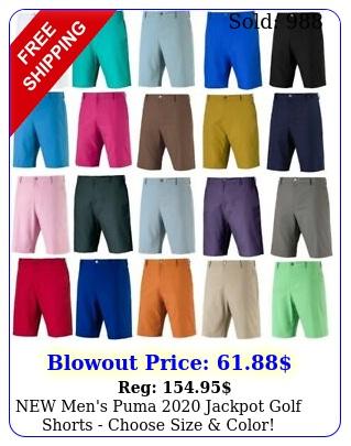 men's puma jackpot golf shorts choose size colo