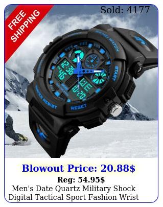 men's date quartz military shock digital tactical sport fashion wrist watch u