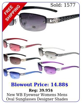 wb eyewear womens mens oval sunglasses designer shades fashion rimless smal