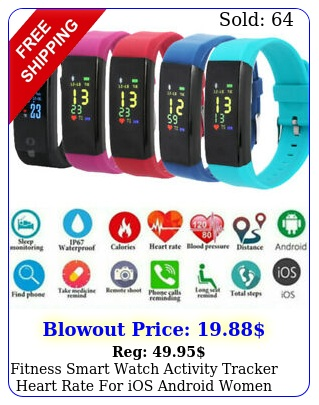 fitness smart watch activity tracker heart rate ios android women me