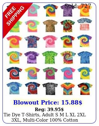 tie dye tshirts adult s m l xl xl xl multicolor cotto
