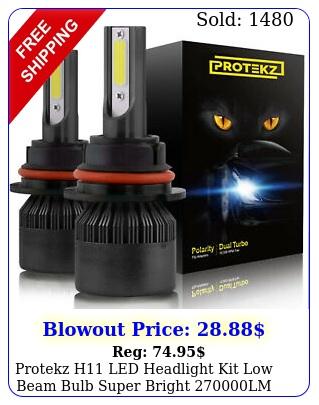 protekz h led headlight kit low beam bulb super bright lm k whit