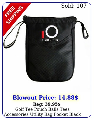 golf tee pouch balls tees accessories utility bag pocket black callaway us stoc