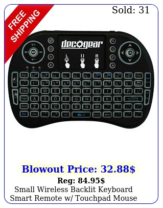 small wireless backlit keyboard smart remote w touchpad mouse ghz deco gea
