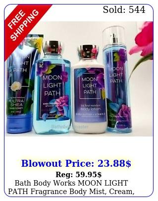 bath body works moon light path fragrance body mist cream lotion gel choos
