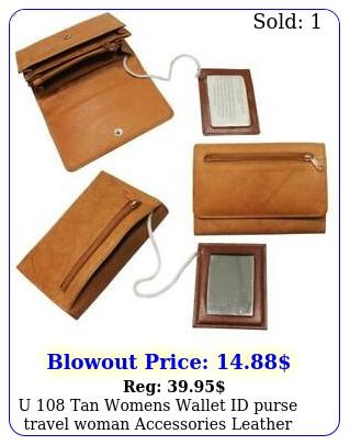 u tan womens wallet id purse travel woman accessories leathe