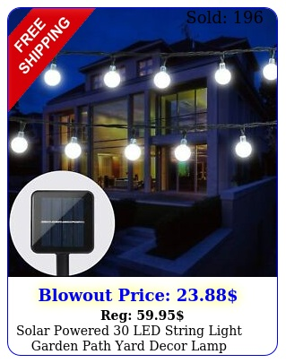 solar powered led string light garden path yard decor lamp outdoor waterproo