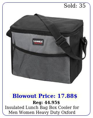 insulated lunch bag cooler men women heavy duty oxford nylon  stra