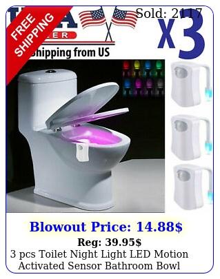 pcs toilet night light led motion activated sensor bathroom bowl lamp colo