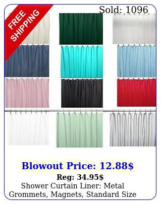 shower curtain liner metal grommets magnets standard size