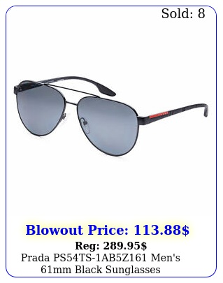 prada pstsabz men's mm black sunglasse