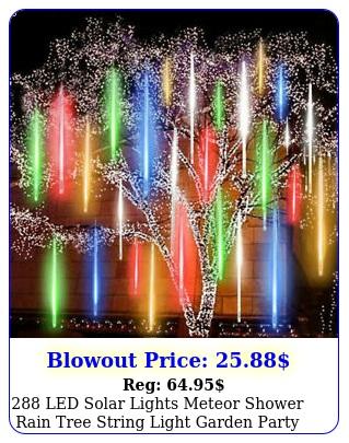 led solar lights meteor shower rain tree string light garden party outdoo