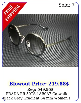 prada pr ts aba catwalk black grey gradient mm women's sunglasse