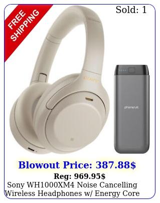 sony whxm noise cancelling wireless headphones w energy core power ban