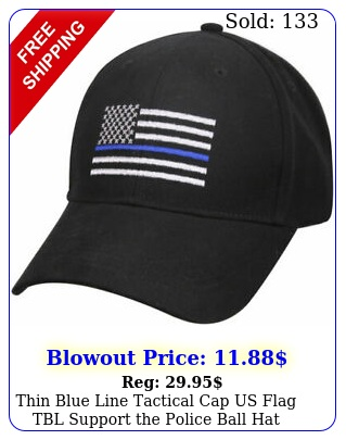 thin blue line tactical cap us flag tbl support the police ball hat adjustabl