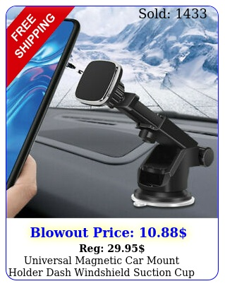universal magnetic car mount holder dash windshield suction cup cell phon