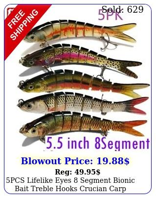 pcs lifelike eyes segment bionic bait treble hooks crucian carp fishing lur