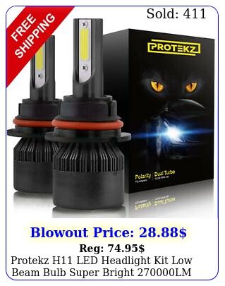 protekz h led headlight kit low beam bulb super bright lm k ligh