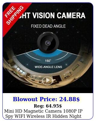 mini hd magnetic camera p ip spy wifi wireless ir hidden night vision hom