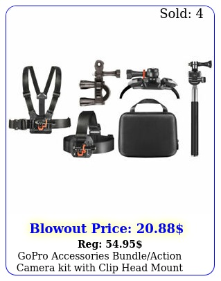 gopro accessories bundleaction camera kit with clip head mount deco gea