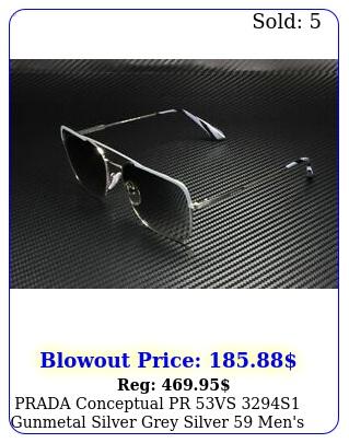 prada conceptual pr vs s gunmetal silver grey silver men's sunglasse