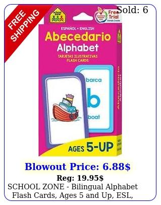 school zone bilingual alphabet flash cards ages up esl languag