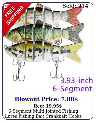 segment multi jointed fishing lures fishing bait crankbait hooks swimbait u