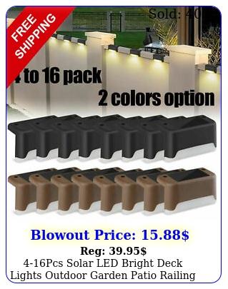 pcs solar led bright deck lights outdoor garden patio railing path lightin