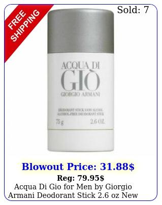 acqua di gio men by giorgio armani deodorant stick oz fres