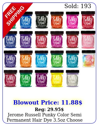 jerome russell punky color semi permanent hair dye oz choose your colo