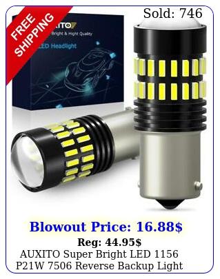 auxito super bright led pw reverse backup light white bulb pc