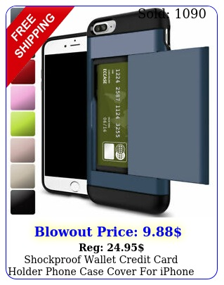 shockproof wallet credit card holder phone case cover iphone  s plus s