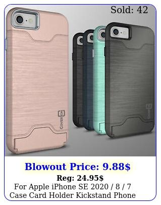 apple iphone se   case card holder kickstand phone cover cas