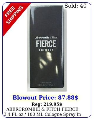 abercrombie fitch fierce fl oz  ml cologne spray in seale
