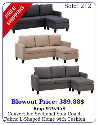 convertible sectional sofa couch fabric lshaped home with cushio