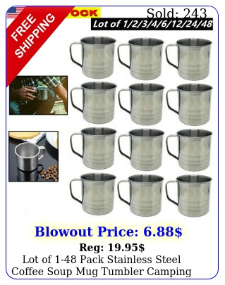 lot of pack stainless steel coffee soup mug tumbler camping mug cup o