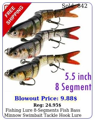 fishing lure segments fish bass minnow swimbait tackle hook lure crank bait u