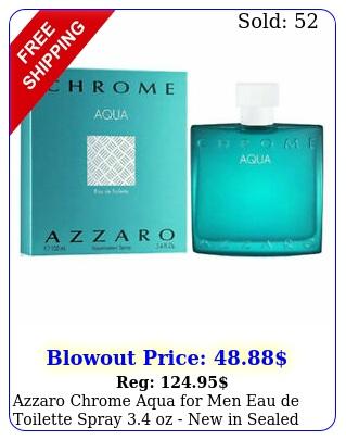 azzaro chrome aqua men eau de toilette spray oz in seale