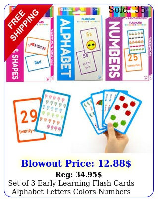 set of early learning flash cards alphabet letters colors numbers educationa
