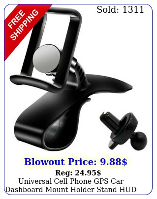 universal cell phone gps car dashboard mount holder stand hud ven clip on cradl