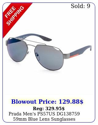 prada men's psus dg mm blue lens sunglasse