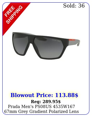 prada men's psus w mm grey gradient polarized lens sunglasse