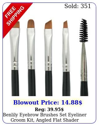benlily eyebrow brushes set eyeliner groom kit angled flat shader spoolie brus